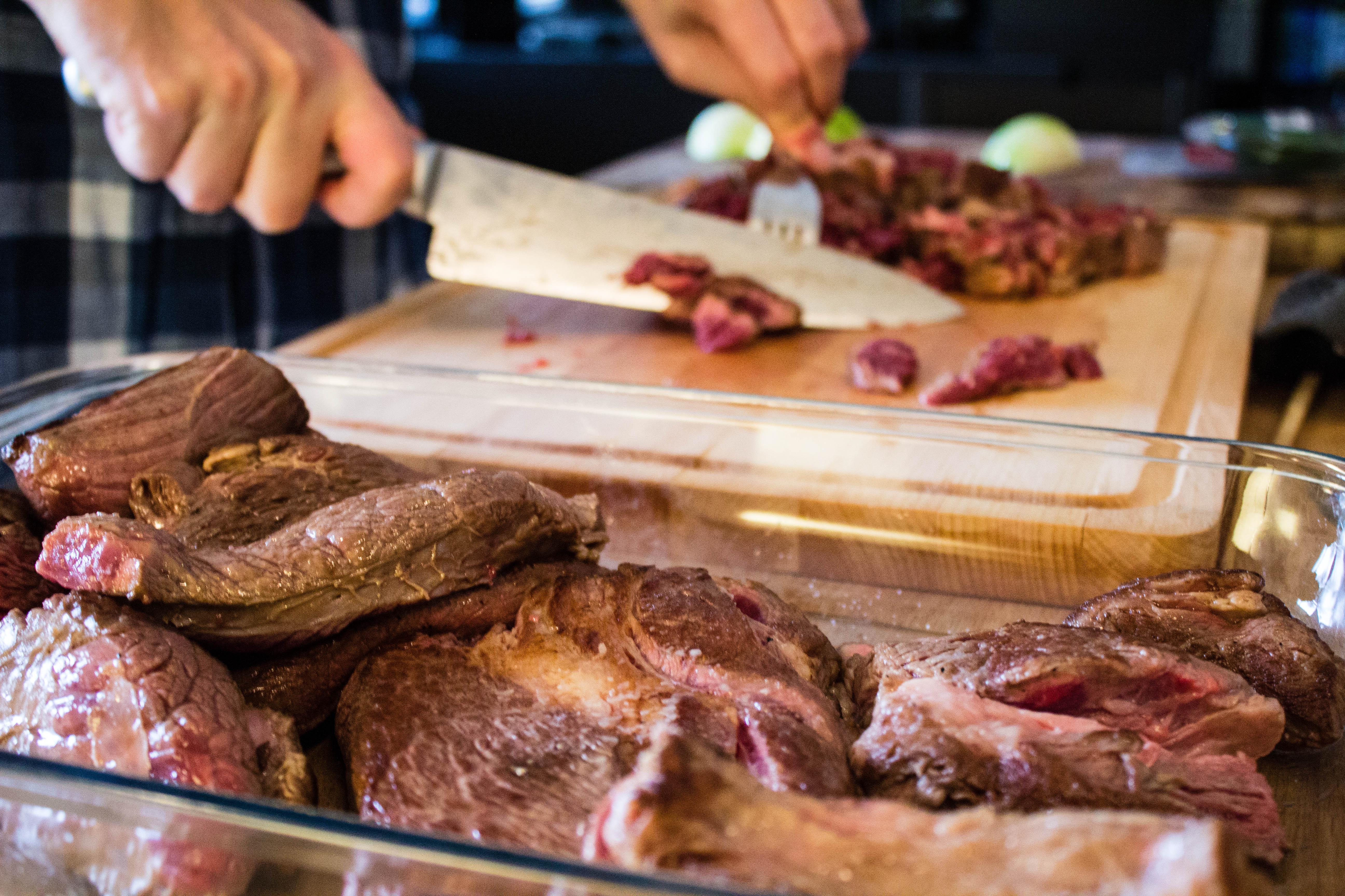 Långkok kött