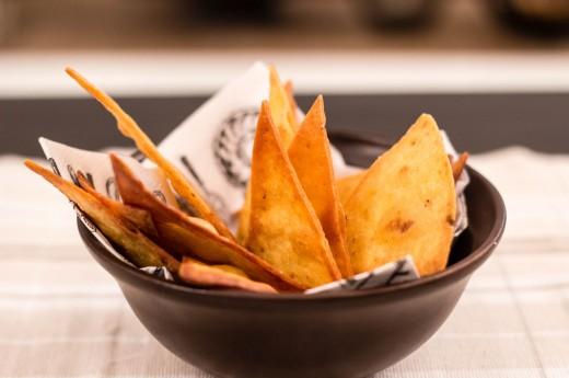 Hemgjorda tortillachips