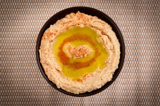 Hemgjord hummus