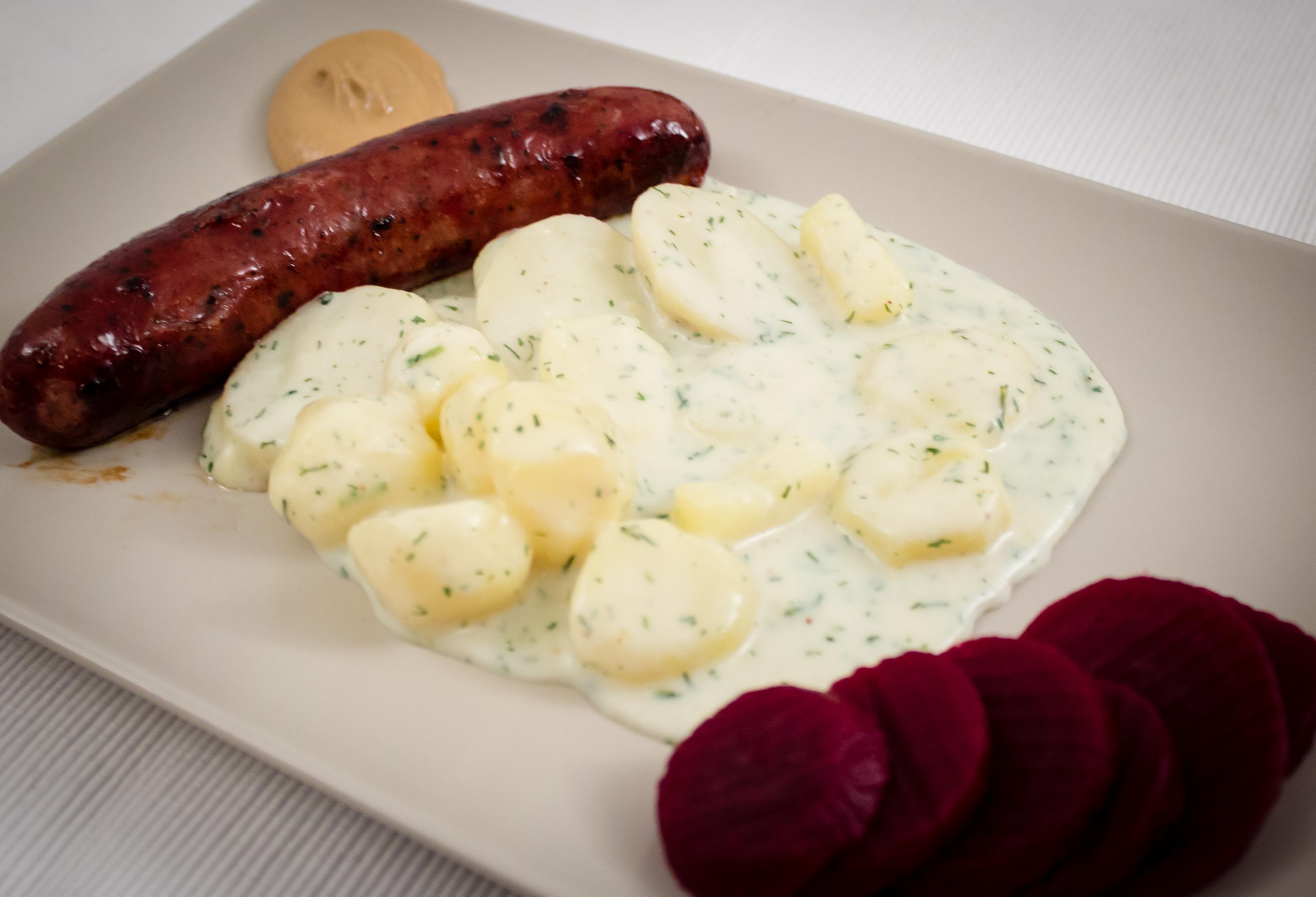 Isterband med dillstuvad potatis