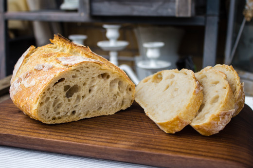 Knådfritt bröd