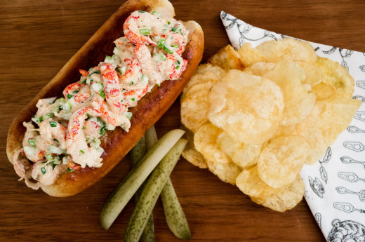 Svensk variant på lobster roll
