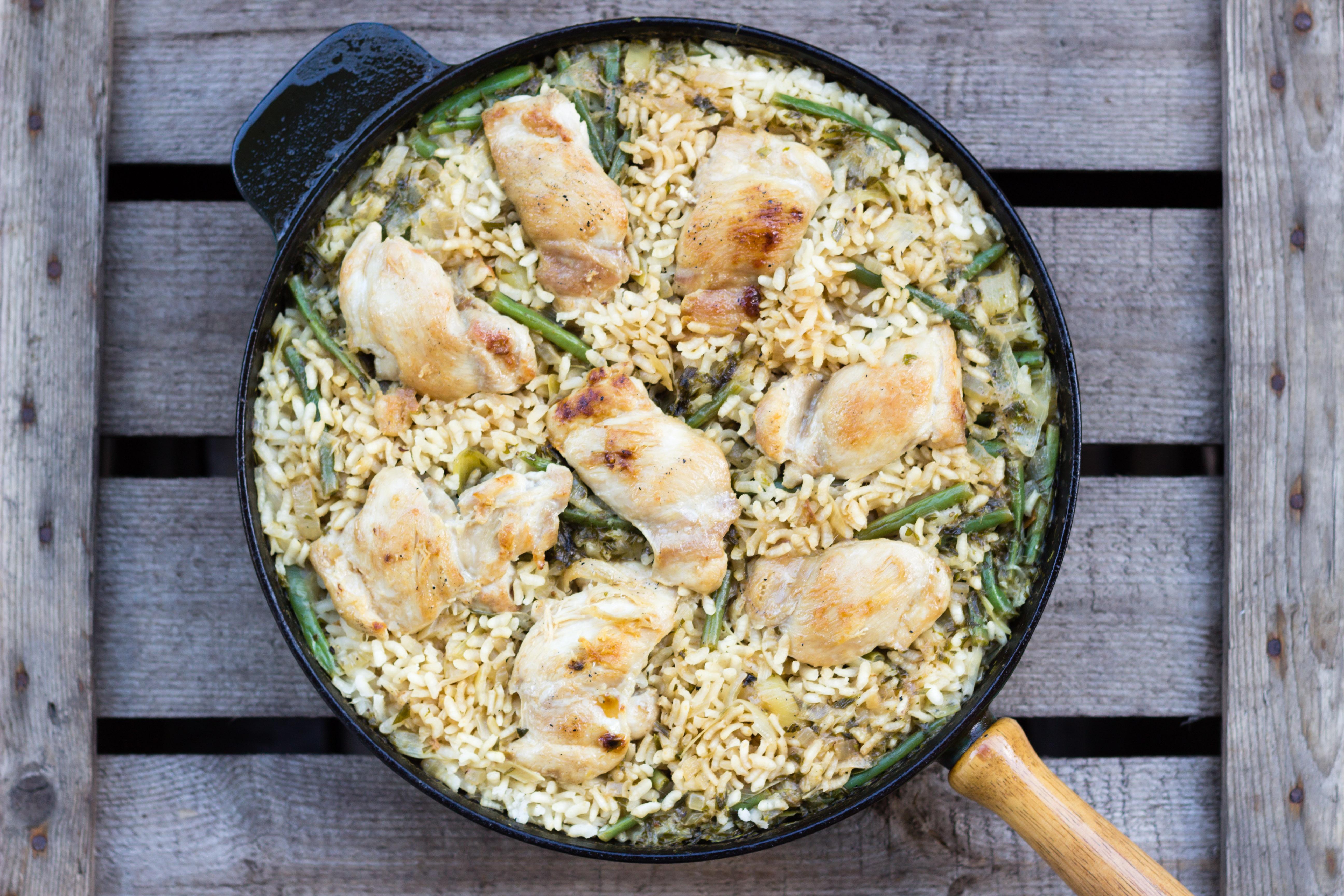 Citron- och dragonkryddad kyckling med ris